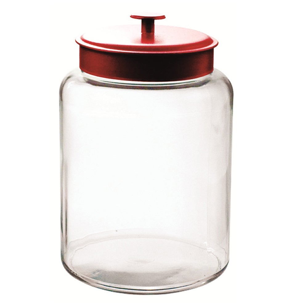 Anchor Hocking 2.5-gallon Montana Jar with Red Cover (Glass)
