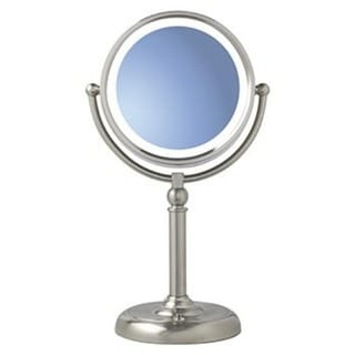 Natural Daylight Lighted 1x 10x Dual Magnifying Vanity Mirror