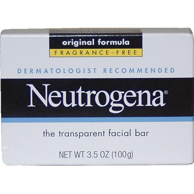 Neutrogena The Transparent Facial Bar 3.5-ounce Soap, Clear