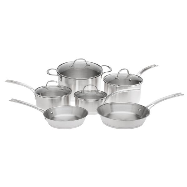 Gordon Ramsay 10-piece Brushed Stainless Steel Cookware Set
