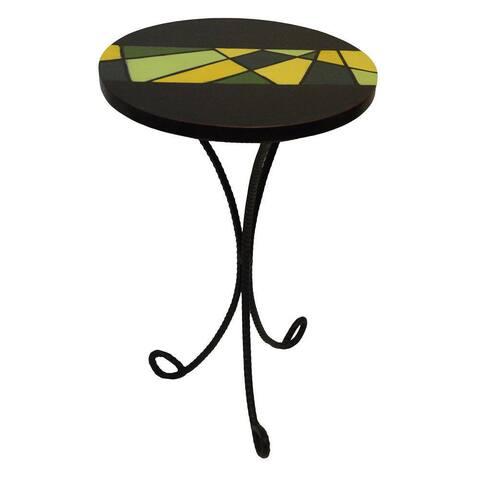 Handmade Abstract Tripod End Table (Ghana)