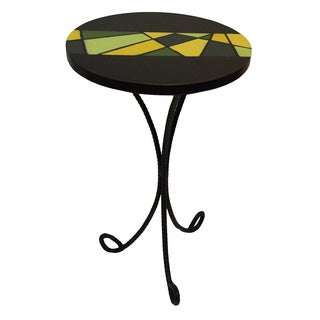 Handmade Abstract Tripod End Table (Ghana)