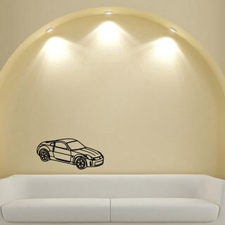 Sporty Coupe Wall Art Vinyl Decal Sticker