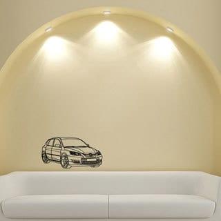Mazda 3 Speed Hatchback Wall Art Vinyl Decal Sticker