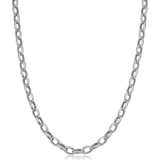 Fremada 14k White Gold 4.6-mm Rolo Necklace (18 inches)
