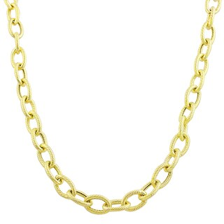 Fremada 14k Yellow Gold 5-mm Textured Rolo Necklace (18 inch)