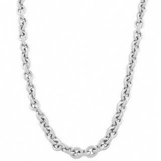 Fremada 14k White Gold 7.6-mm Rolo Necklace (18 inch)