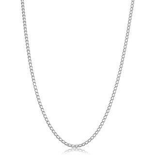 Fremada Sterling Silver Cage Link Necklace
