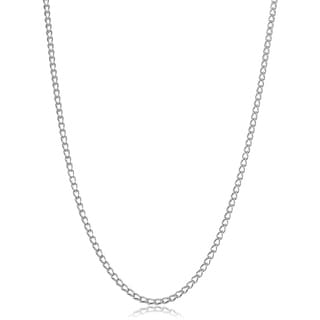 Sterling Silver Cage Link Necklace