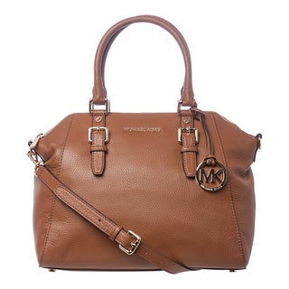 MICHAEL Michael Kors 'Bedford' Large Luggage Leather Satchel