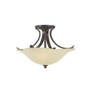 Morningside 2-light Grecian Bronze Semi Flush Mount