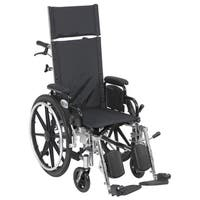 Drive Medical Viper Plus Light Weight Reclining Wheelchair with Elevating Leg Rest and Flip Back Detachable Arms