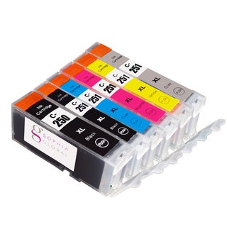 Sophia Global Compatible Ink Cartridge Replacements for PGI-250XL and CLI-251XL (Pack of 6)