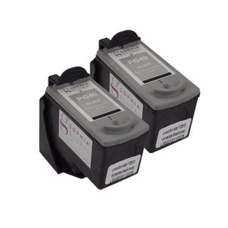 Sophia Global Remanufactured Black Ink Cartridge Replacements for Canon PG-40 with Ink Level Display (Pack of 2)