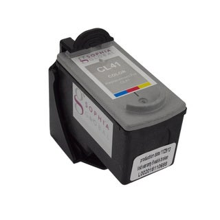Sophia Global Remanufactured Color Ink Cartridge Replacement for Canon CL-41 with Ink Level Display
