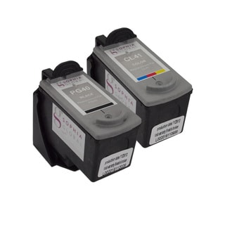 Sophia Global Remanufactured Ink Cartridge Replacements for Canon PG-40 and CL-41 with Ink Level Display (Pack of 2)
