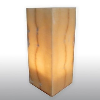 Natural Alabaster Karnak Lamp , Handmade in Egypt