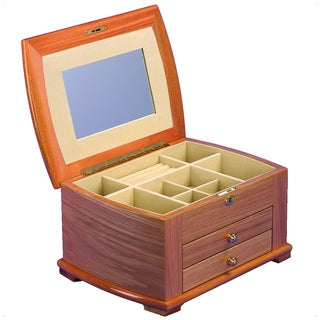 Wood Jewelry Collection Box with Drawer