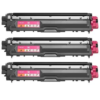 Brother TN221M Remanufactured Compatible Magenta Toner Cartridges (Pack of 3)