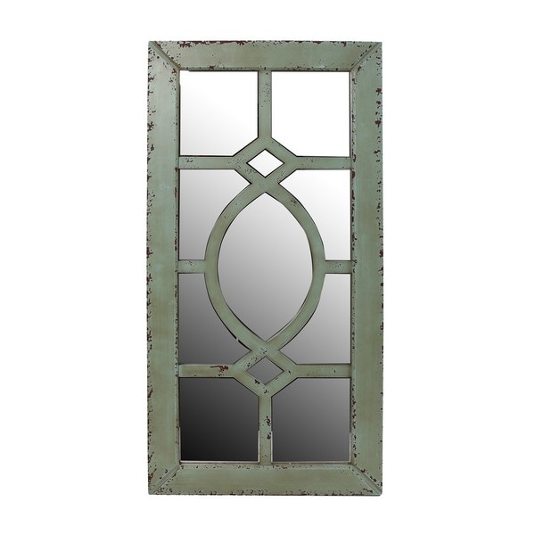 Shop Privilege Reclaimed Wall Mirror Green Free