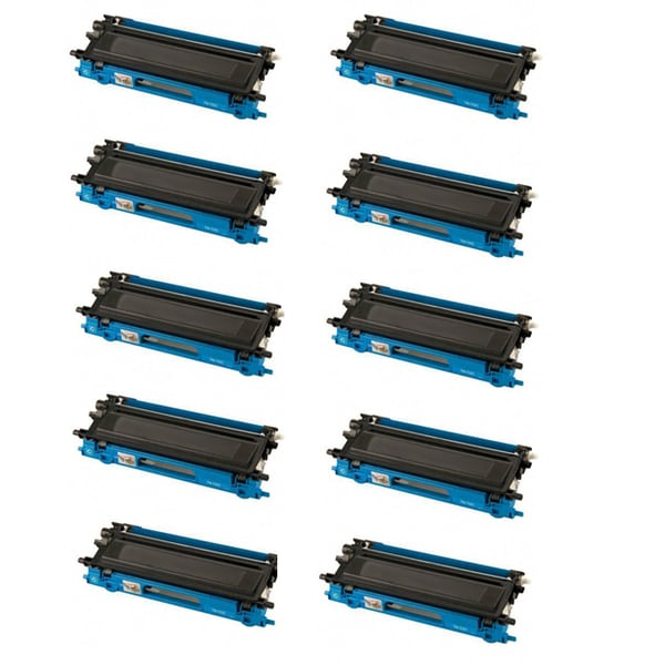 Brother TN115 Compatible High Yield Cyan Toner Cartridges (Pack of 10)