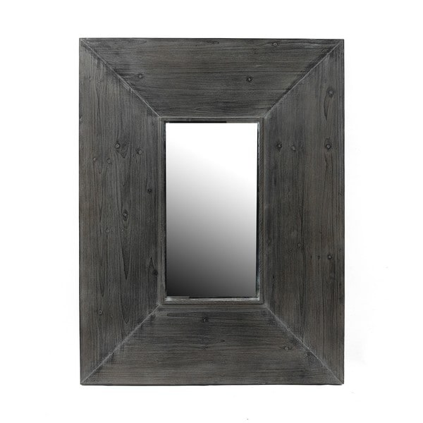 Privilege Grey Reclaimed Wood Wall Mirror - Privilege Grey Reclaimed Wood Wall Mirror - Free Shipping Today