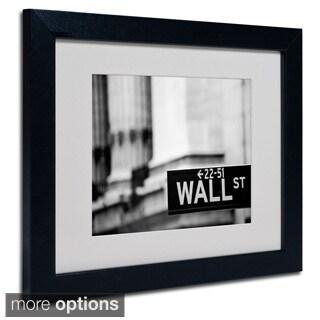 Yale Gurney 'Wall St' Framed Matted Art