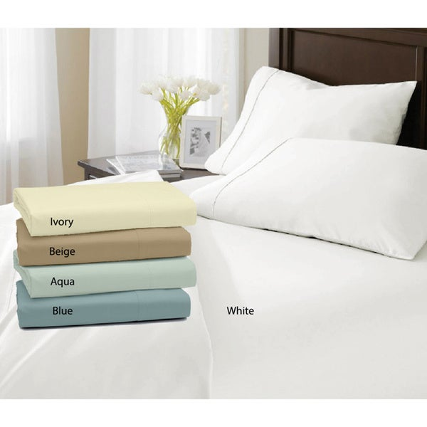 Egyptian Cotton Percale 400 Thread Count Deep Pocket Sheet Set Free Shipping On Orders Over 45 8652108