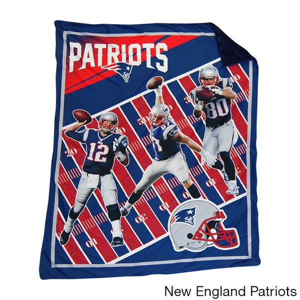Shop NFL Biggshots AFC Marque Snuggle Cover Overlay Throw Blanket Stunning Nfl Blankets And Throws