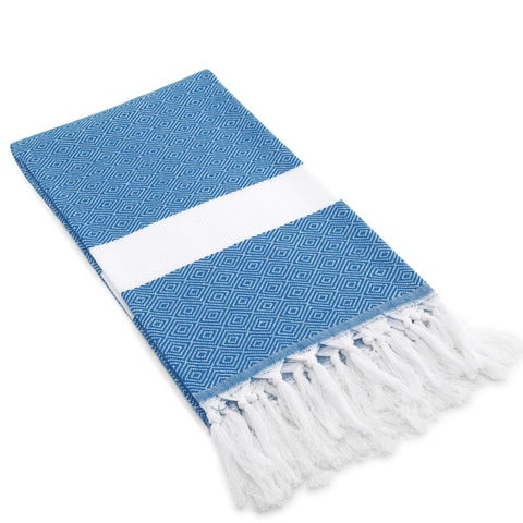 Authentic Pestemal Fouta Diamond Weave Turkish Cotton Bath/ Beach Towel