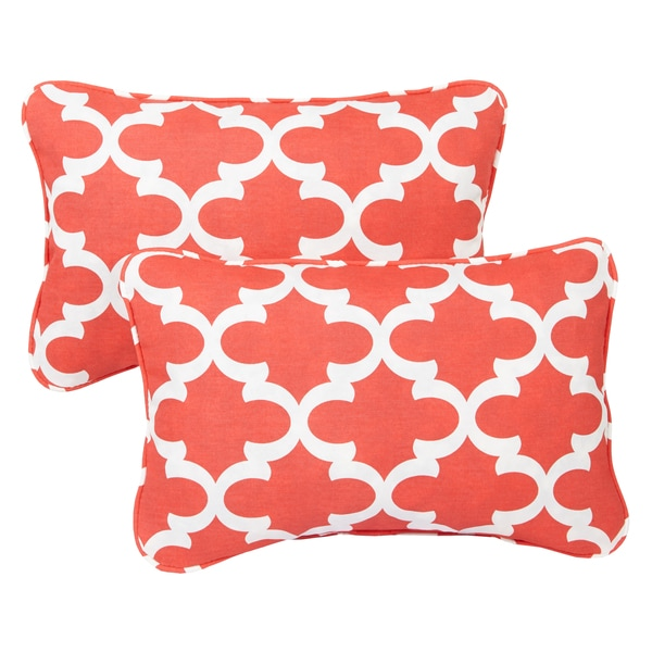 Shop Scalloped Coral Corded 13 X 20 Inch Indoor Outdoor