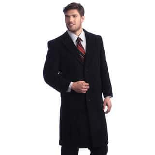 Men's 'Howard' Charcoal Overcoat https://ak1.ostkcdn.com/images/products/8652252/Mens-Howard-Charcoal-Peak-Lapel-Overcoat-P15912597.jpg?impolicy=medium