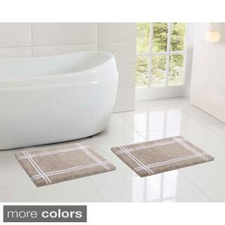 VCNY Clark Hotel Microfiber Memory Foam 17 x 24 Bath Mat (Set of 2)