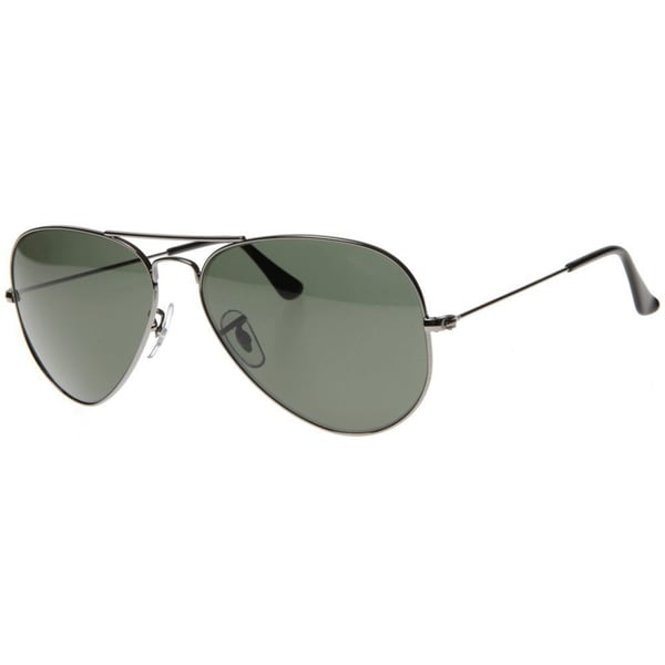 classic ray ban aviator sunglasses  Ray-Ban Aviator RB3025 Unisex Gunmetal Frame Green Classic Lens ...