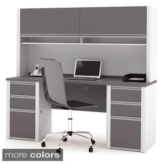 Bestar Connexion Credenza and Hutch Kit