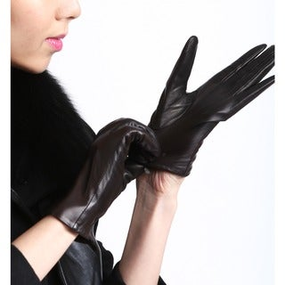 Link to Women's Touch Screen Premium Genuine Lambskin Leather Texting Gloves Similar Items in Gloves