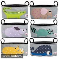 a08a8033715 Shop 3 Sprouts Grey Polyester Bulldog Stroller Organizer - Free ...