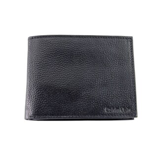 Calvin Klein Men's Black Leather Bifold Wallet