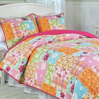 Aloha Girl's Multicolor Printed 3-piece Quilt Set