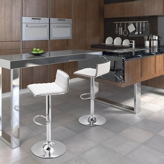 Equation Modern Leatherette and Chrome Steel Adjustable Barstool