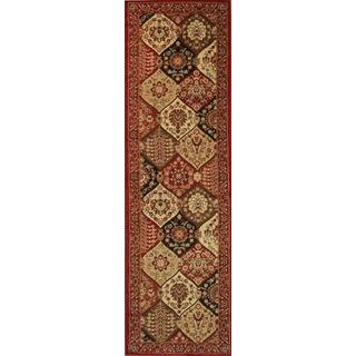 Victorian Panel Red Runner Rug (2'3 x 7'3)