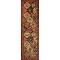 "Well Woven Victorian Panel Red Runner Rug - 2'3"" x 7'3"""