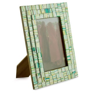 Handcrafted Glass Mosaic 'Summer Memories' Photo Frame , Handmade in India