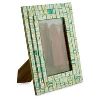 Handmade Glass Mosaic 'Summer Memories' Photo Frame  , Handmade in India