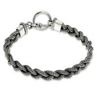Handmade Sterling Silver Men's 'Naga Braid' Bracelet (Indonesia)