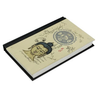 Handmade Paper 'Peaceful Buddha' Journal (India)