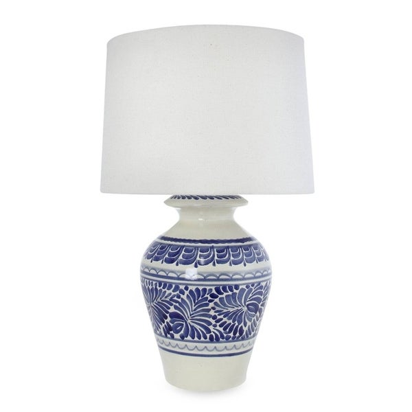 Handmade Ceramic 'Song of Talavera' Majolica Table Lamp (Mexico)