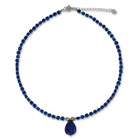 Handmade Depths of Blue Lapis Lazuli Necklace (Thailand)