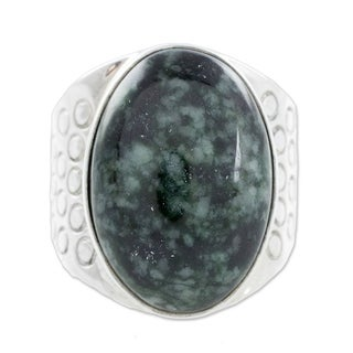 Link to Handmade Verdant Night Jade Ring (Guatemala) Similar Items in Rings