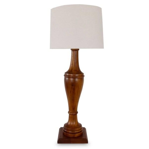 Handmade Parota Wood 'Light of Nostalgia' Lamp (Mexico)